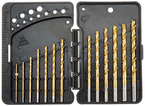 Vermont American 12385 13 Piece 116-Inch to 14-Inch Titanium Twist Drill Bit Assortment