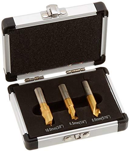 New Hand Tools 3pc HSCO Titanium Spot Weld Drill Bit Cutter Flat Shaft 14 516 38 Cobalt