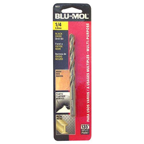 Disston E0101050 Carded Blu-Mol Black Oxide Jobber Drill Bits Diameter 14-Inch