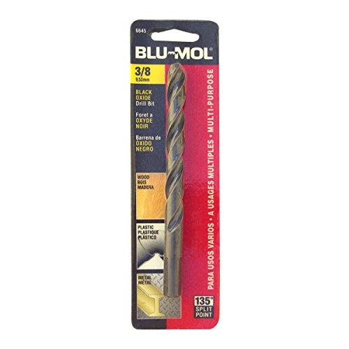 Disston E0101058 Carded Blu-Mol Black Oxide Jobber Drill Bits Diameter 38-Inch