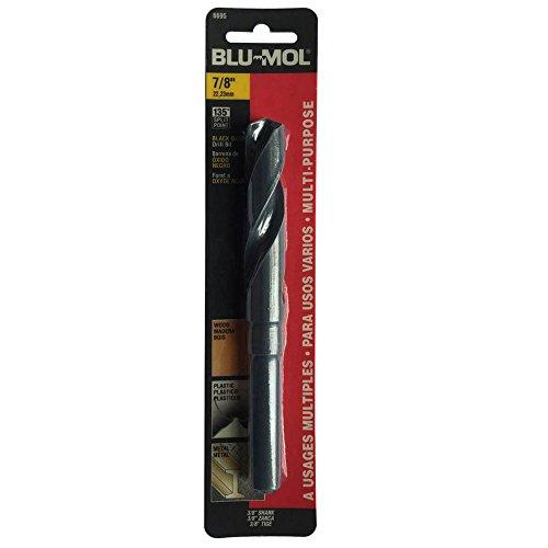 Disston E0101078 Carded Blu-Mol Black Oxide Silver and Deming Drill Bits Diameter 78-Inch