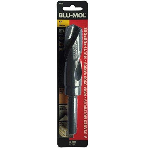 Disston E0101079 Carded Blu-Mol Black Oxide Silver and Deming Drill Bits Diameter 1-Inch