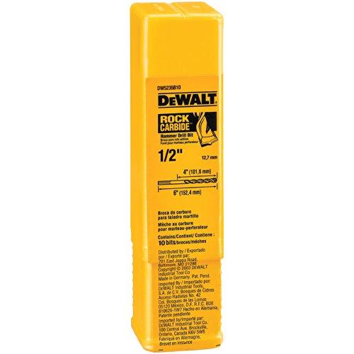 DEWALT DW5235B10 12-Inch by 6-Inch Carbide Hammer Drill Bit 10-pack