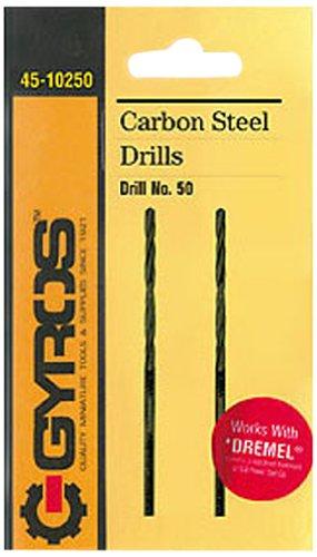 Gyros 45-10250 Carbon Steel Wire Gauge Drill Bit No50