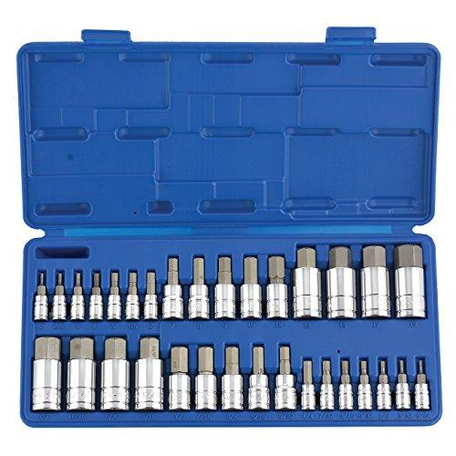 Neiko 10288A Master Hex Bit Socket Set S2 Steel  32-Piece Set  SAE and Metric