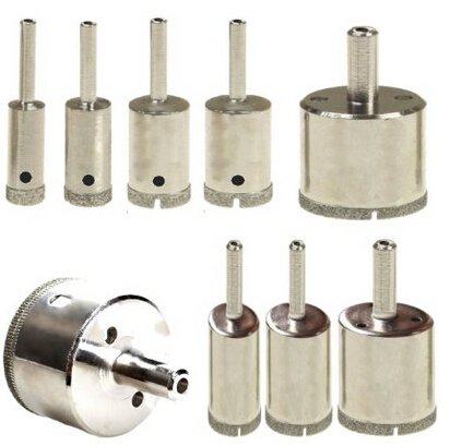 DDN 9 Pcs SET Diamond Hole Saw Drill Bit Set 10mm - 50mm Granite Glass Tile - Tools