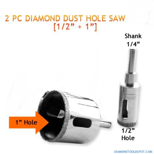 2pc Diamond Dust Hole Saw 12  1