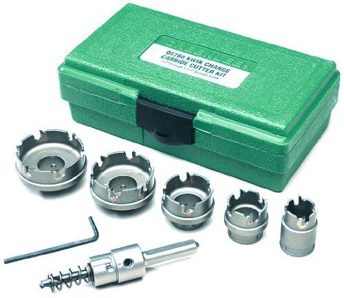Greenlee 660 Kwik Change Stainless Steel Hole Cutter Kit 7 Piece by Greenlee