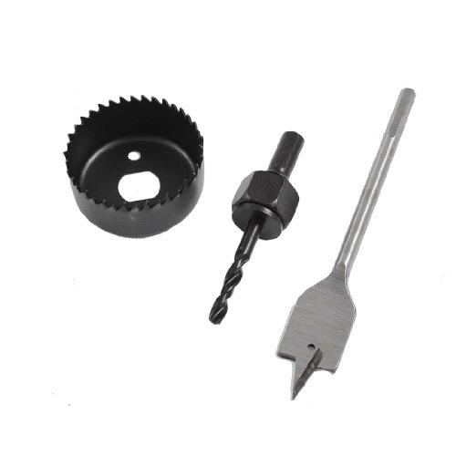 uxcell Metal 3 in 1 54mm Diameter Hole Saw Spade Drill Bit Set