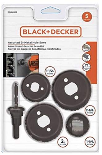 BLACKDECKER 5 Piece Bi-Metal Hole Saw Set BAH1SET5