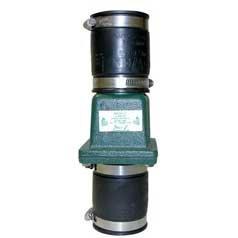 Zoeller 30-0200 PVC Unicheck Valve 15in125in Slip x Slip wStainless Steel Fasteners Clamps