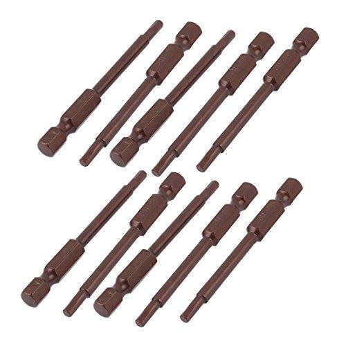 14 Inch Shank 3mm Hex Tip 65mm Long Magnetic Screwdriver Bits 10pcs