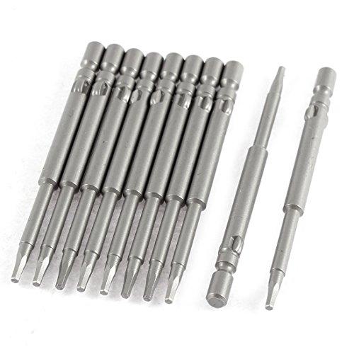 15mm Tip Round Shank Magnetic Tool Hex Screwdriver Bits 10 Pcs