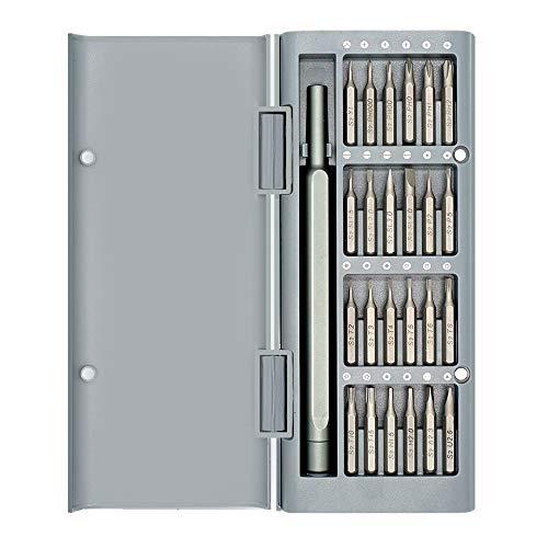 Precision Screwdriver SetTECKMAN 25in1 Small Screwdriver Set with T2 T3 T4 T5 T6 T8 T10 T15 TorxP2 P5 Pentalobe and PhillipsSlotted Bit Set for iPhoneMacbookXboxPS4GarminEyeglassRing Doorbell