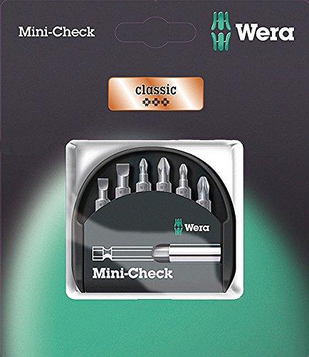 Wera 073406 6 Piece Mini Check SB Slotted Bit Set