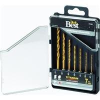 503171DB 7Piece Titanium Hex Shank Drill Bit Set