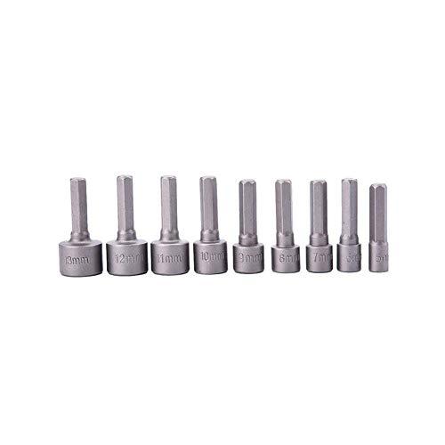 BELUPAID Power Nut Driver Bit Set 9pcs 14 Hex Shank Drill Bit Set 5-13mm Magnetic Socket Wrench Screw