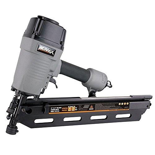 NuMax SFR2190 Pneumatic 21 Degree 3-12 Full Round Head Framing Nailer Ergonomic and Lightweight Nail Gun with Tool-Free Depth Adjust and No Mar Tip