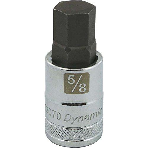 Dynamic Tools D013070 12 Drive SAE Hex Head Socket with 58 Bit Chrome Finish
