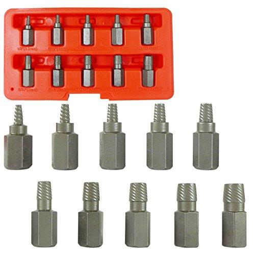 Te echo de menos Multi-Spline Screw Extractor 10pc Set Hex Head Bit Socket Wrench Bolt Remover