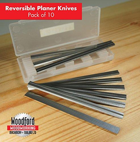82mm 10pk Reversible Tungsten Carbide Planer Blades for Makita D-46246- PB1220C-10 -3-14 inch