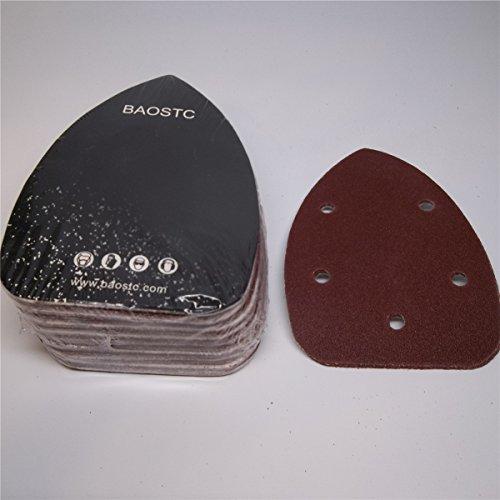 BAOSTC 3-345-12 P120 Palm sanding disc for BLACK&DECKER mouse sander 50PACK