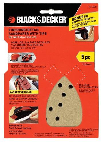 Black Decker 74-585H 240-Grit Mouse Sand Paper