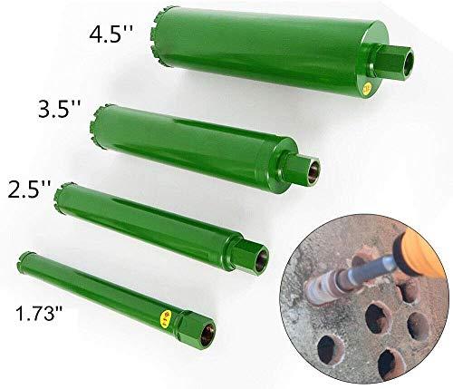Wet Diamond Core Drill Bit Set 17 25 35 45 for Brick Concrete Block Granite Drilling Coring 4pcsset