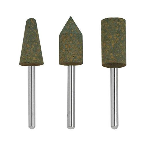 3pc Polishing Bit Set - Rare Natural Latex Rubber - Fits Dremel