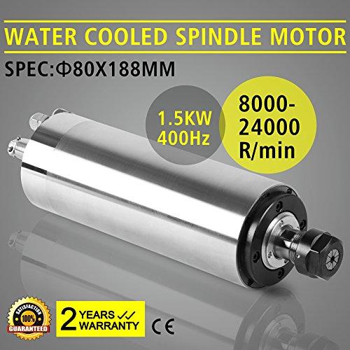 CNCShop Spindle Motor CNC Spindle Motor 15kw Water Cooled Spindle Motor ER11 Collet Chuck15KW Water Cooled Spindle Motor