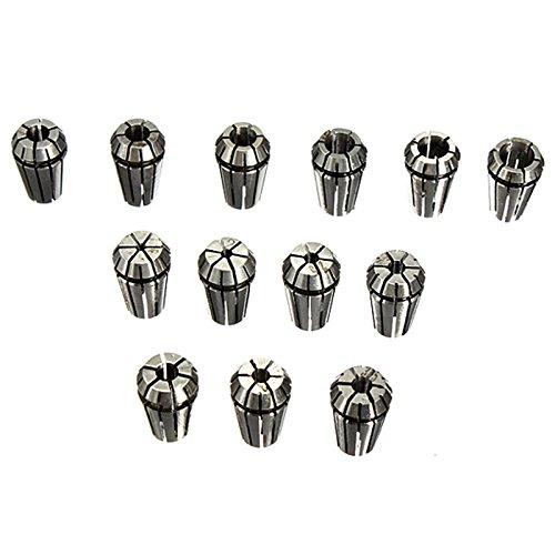 ER11 Collets Set - SODIALR13 pcs ER11 collets 1-7mm Set For CNC milling tool engraving