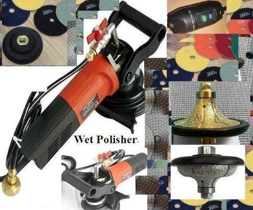 5-Inch Wet Polisher 34 Inch B20 Radius 34 Inch F20 Ogee Bullnose Router Bit Granite Polishing Pads