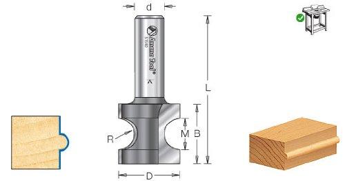 Timberline 350-10 964 Radius 932 Bull Nose Height Bull Nose Router Bit 12 Shank