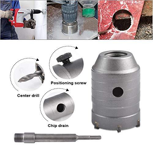 HOHXEN 55mm SDS Plus Shank Hole Saw Cutter Concrete Cement Stone Wall Drill Bit