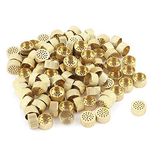 100 Pcs Hardware Mould Parts Brass Hole Core Vent 10mm Dia Gold Tone