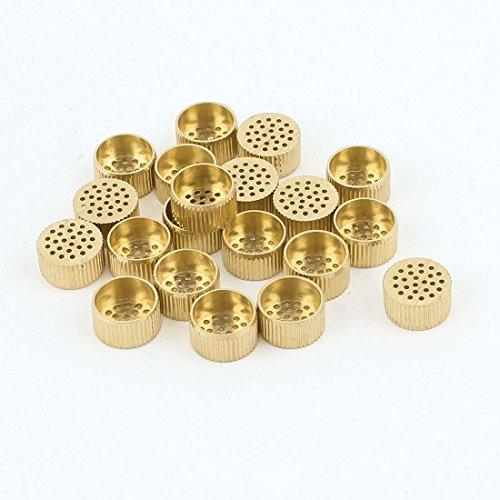 20 Pcs Hardware Mould Parts Brass Hole Core Vent 10mm Dia Gold Tone