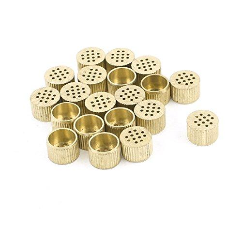 20 Pcs Hardware Mould Parts Brass Hole Core Vent 8mm Dia Gold Tone
