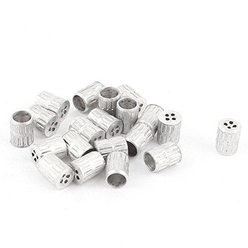 20 Pcs Mould Parts Aluminum Hole Core Vent 4mm Diameter Silver Tone
