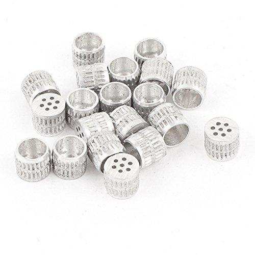 20 Pcs Mould Parts Aluminum Hole Core Vent 6mm Diameter Silver Tone