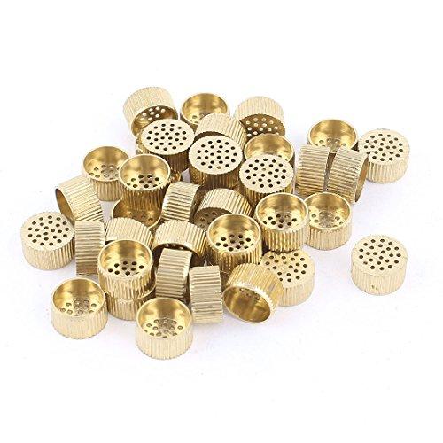 40 Pcs Hardware Mould Parts Brass Hole Core Vent 10mm Dia Gold Tone