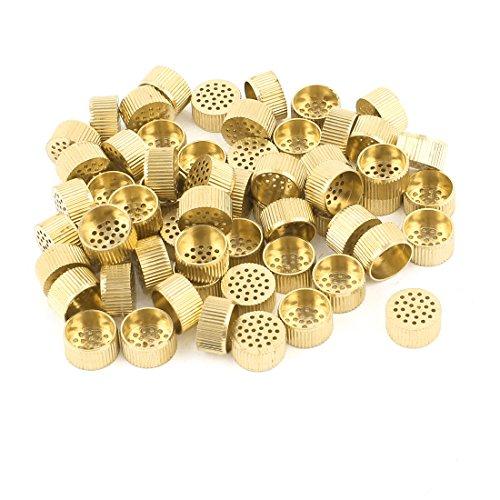 60 Pcs Hardware Mould Parts Brass Hole Core Vent 10mm Dia Gold Tone