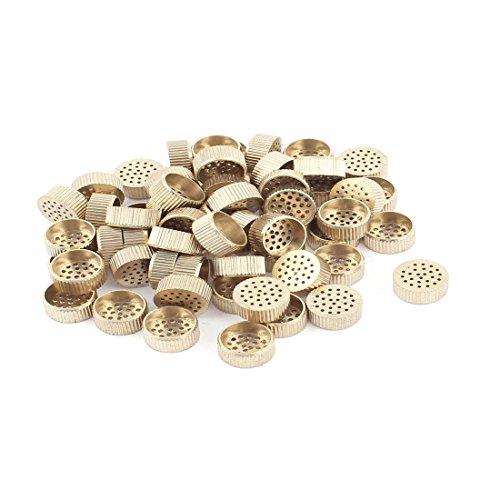 Hardware Mould Parts Brass Hole Core Vent 12mm Dia Gold Tone 60 Pcs