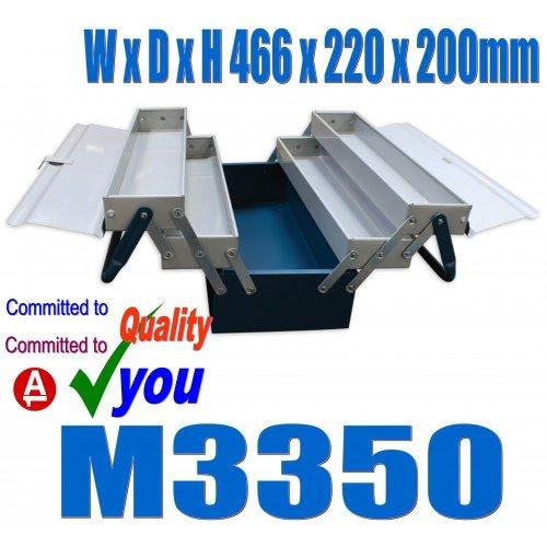 Metal Cantilever Tool Box 5 Tray Mechanics Plumbers Omega M3350 by Omega