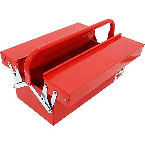 Pandamoto Red Metal 18-inch 3 Tray Cantilever Tool Box Storage Garage Workshop Toolbox by Pandamoto