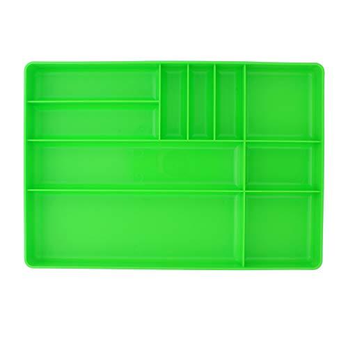 ABN Toolbox Drawer Organizer Tool Organizer Tool Tray - Tool Drawer Organizer Sorting Tray 16x11x15in in Green