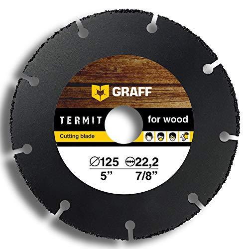 Wood Cutter GRAFF Termit 5-Inch Angle Grinder Wood Cutting Wheel Thin Cut of Laminate Wood Plastic 125 mm Speedcutter