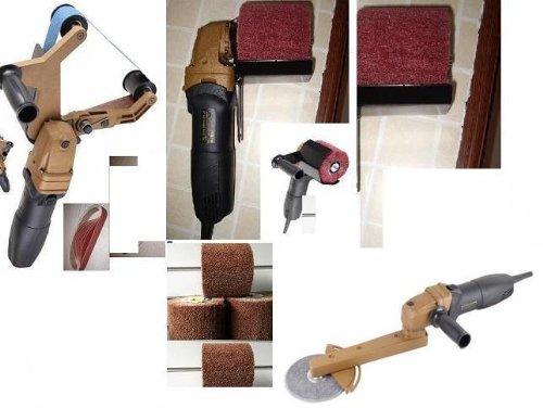 Pipe Tube angle grinder Polisher Burnisher Fillet Weld pipe bender 140 Pieces Belt Grit 60 120 320 800 4 Burnishing Wheel