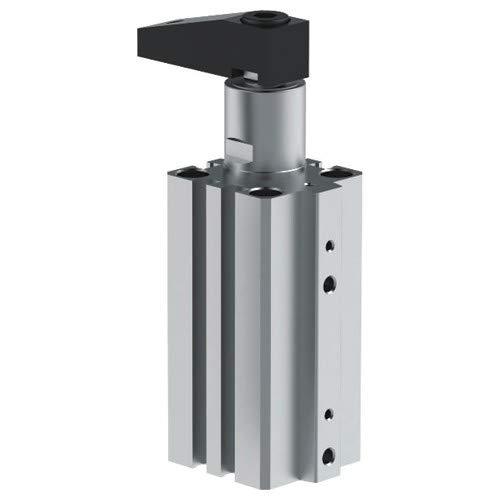 Pneumatic Swing Clamp 25 mm Bore Short Stroke Left Hand Rotation 5 mm Port