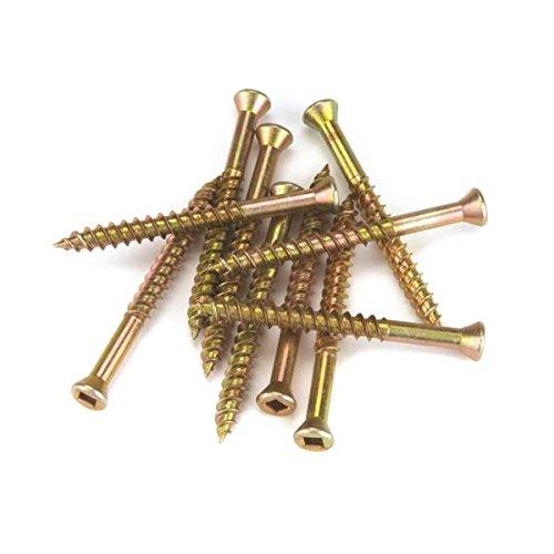HighPoint Trim Head Screws Yellow Zinc 7 x 1 100pc