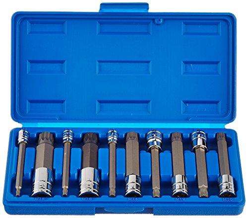 Capri Tools 30073 Long XZN Triple Square Bit Socket Set 10-Piece